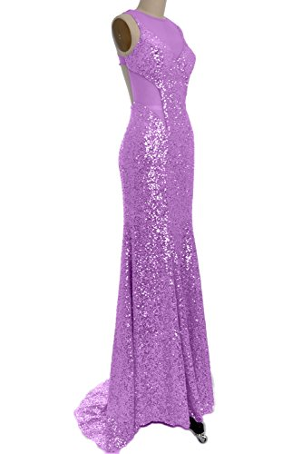 Lavender Gorgeous Prom Out Long Dress Mermaid Sequin Cut MACloth Gown Evening Party 4xwRSqRP