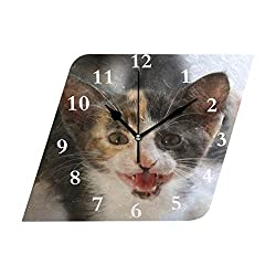 Wall Clock What Cats Can Teach You Silent Non Ticking Decorative Diamond Digital Clocks Indoor Outdoor Kitchen Bedroom Living Room
