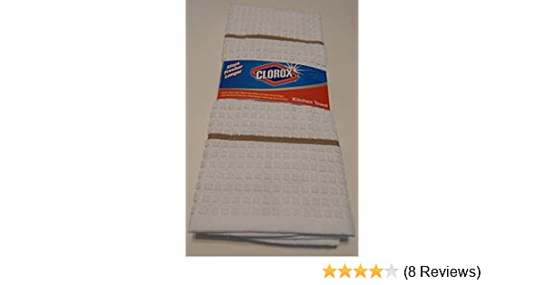 Amazon.com: Clorox Bleach Kitchen Towel Dish Towel Anti Microbial White: Home & Kitchen