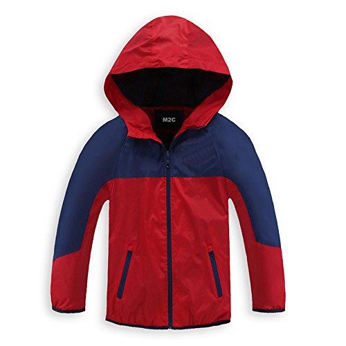 M2C Boys Quick Dry Full-Zip Hooded Jacket Light Windproof Jackets 6/7 (Toddler Full Zip Jacket)