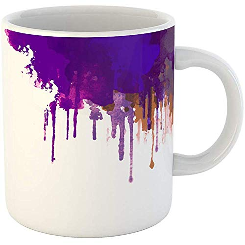 Coffee Cups Tea Mug Gift 11 Ounces Funny Ceramic Artistic Abstract Watercolor Colorful Digital Painting Brush Gifts For Family Friends Coworkers Boss Mug