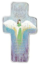 Cathedral Art SIM145 Baptismal Blessing Art Metal Cross, 6-Inch