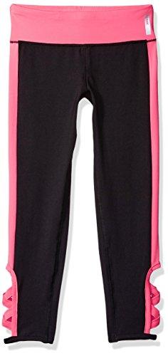- RBX Girls' Little Pieced Performance Capri, Black/Pink Cutout, 6X