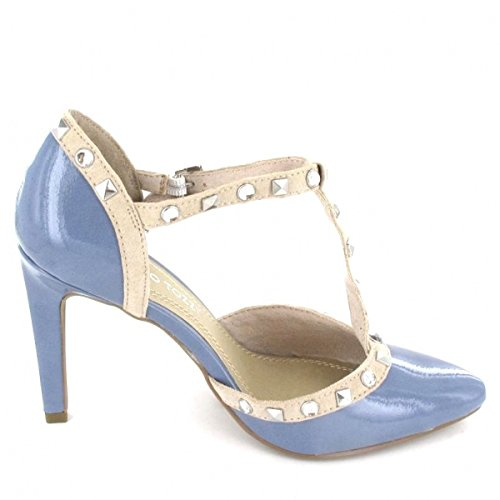 Beige Pumps Tozzi beige Marco Blau Farbe blau 1aqZA