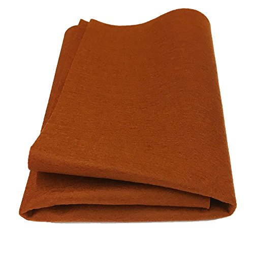 100% Merino Wool Craft Felt - Rust (Yard) (100 Wool Felt Fabric By The Yard)