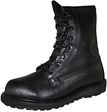 Combat Boot, Gore-Tex Intermediate Cold/Wet Weather Black Leather, Genuine U.S. Military Issue (10.5R)