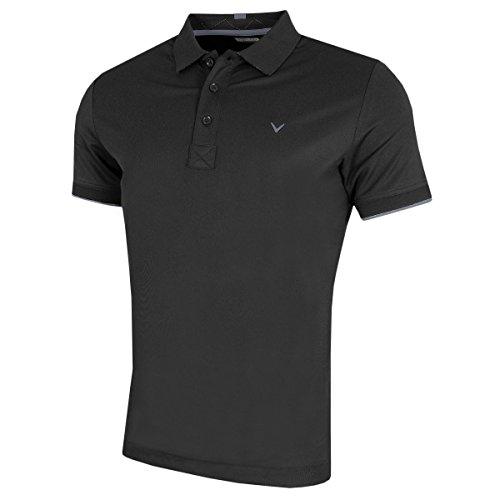 Callaway Golf 2018 Mens Opti-Dri X Range Contrast Tipped Polo Shirt Caviar Medium