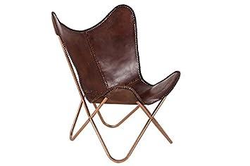 Loungesessel braun  DuNord Design Sessel Stuhl TEXAS echt Leder braun Loungesessel ...