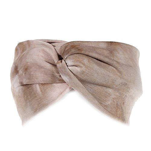 URIBAKE Women's Stretch Headband Tie Dye Cross Twist