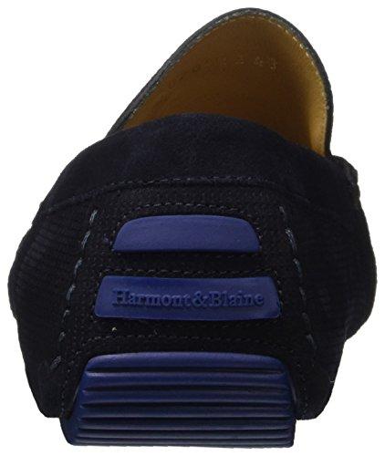 Harmont amp; Slip On Blaine Blue Azul Hombre Mocassino 512 AAwr1a