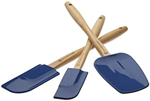 Le Creuset BB0733-30 Amazon.com Exclusive 3-Piece Silicone Spatula Set, Cobalt Blue