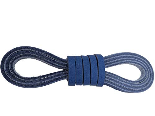 Leather Cord and Lacing, Straps 1/4 x 72 inches for Baseball Gloves and Softball Mitts Laces or Craft Projects (Nordic Blue) ()