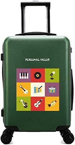 Color : Green Small Fresh 24 inch Suitcase GaoMiTA Scratchproof Universal Wheel Trolley case
