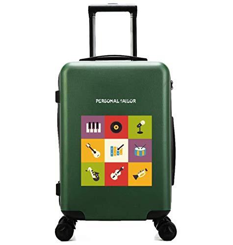 GaoMiTA 傷防止ユニバーサル車輪トロリーケース スモール フレッシュ24インチ スーツケース(カラー:グリーン) B07P81VS5X
