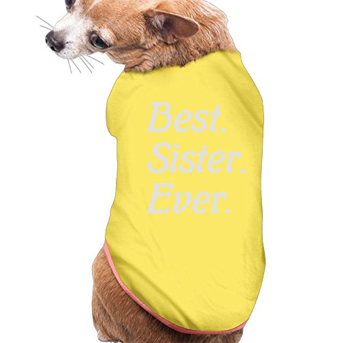 TeeStars - Best Sister Ever! Siblings Gift Idea Best Sisters Plain WarmPuppy Shirt Dress Plain Sleeveless Anxiety Calming Wrap Best Holiday Gift S - Sibling Designer