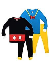 Disney Boys' Mickey and Donald Pajamas 2 Pack