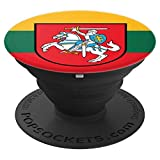 Lithuania Lithuanian Flag Lietuva Lietuvos Veliava - PopSockets Grip and Stand for Phones and Tablets