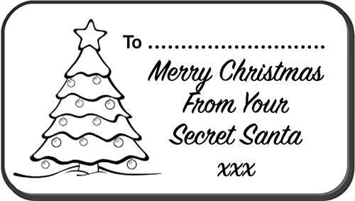 52 X Secret Santa Christmas Labels Stickers Gift Tags Office Secret Santa Stickers Amazon Co Uk Office Products