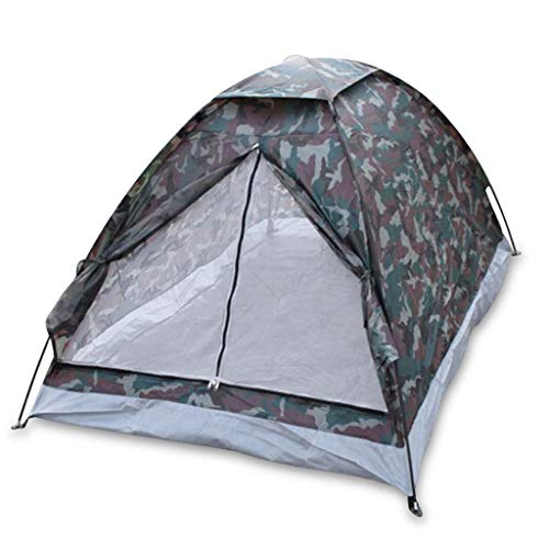 Gbyao Tent 2 Person Camping Tent Beach Tent Single Layer Tent Portable Camouflage Polyester Camping Hiking Outdoor Tent