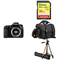 Canon EOS 80D Digital SLR Camera Body (Black) + Free Accessory Bundle