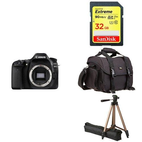 Canon EOS 80D Digital SLR Camera Body  + Free Accessory Bund