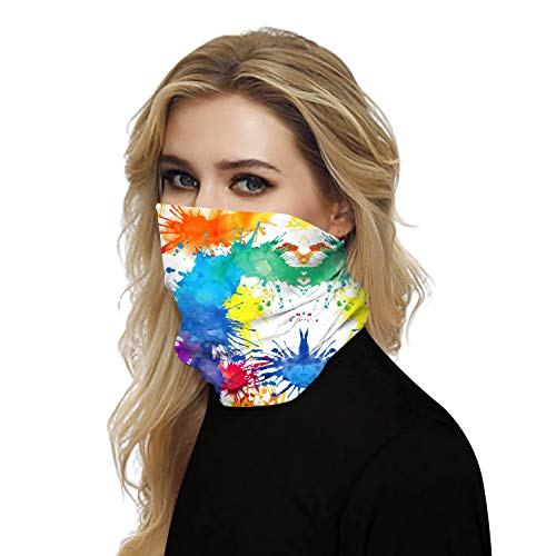 Winter Bandana for Rave Face Mask Dust Wind UV Sun, Neck Gaiter Tube Mask Headwear, Motorcycle Face Mask for Women Men Face Scarf