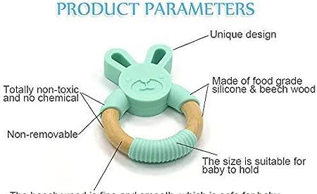 para alivio de las enc/ías beige beige sin BPA apto para lavavajillas Mordedor de conejito de beb/é