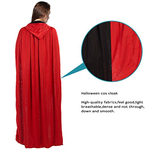 Plus Size Noble Renaissance Man Costumes (Hooded Cloak Cape Halloween Gothic Witch Cosplay Robe Costumes Cloak with Hood)