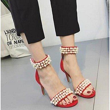 rtry de las mujeres sandalias Casual de ante comodidad Stiletto talón US6.5-7 / EU37 / UK4.5-5 / CN37