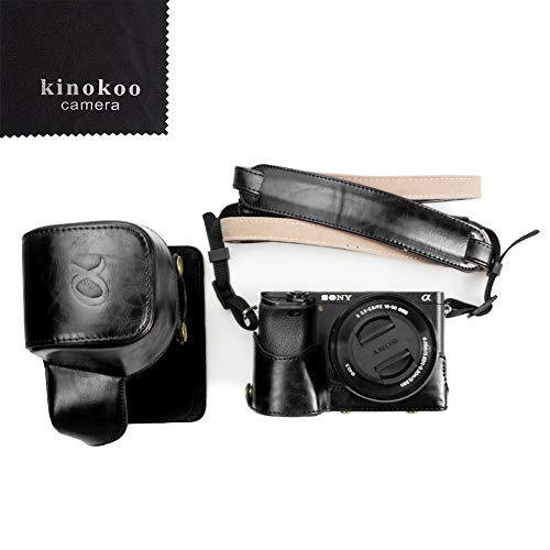 kinokoo Canon PU Leather Camera Case for Sony A6300 A6000 and 16-50mm Lens with Shoulder Strap, Cleaning Cloth(Black) Review