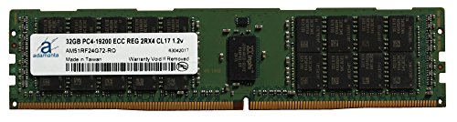 Adamanta 32GB (1x32GB) Server Memory Upgrade Compatible for Dell Poweredge, HP Apollo & HP Proliant Servers DDR4 2400MHZ PC4-19200 ECC Registered Chip 2Rx4 CL17 (Poweredge 2400 Server)