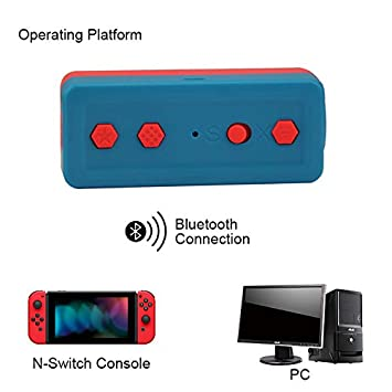 ACHICOO 4in1 Bluetooth Adapter for Wii Classic/NES/SN/ES/GC/SFC Classic Edition Blue + red