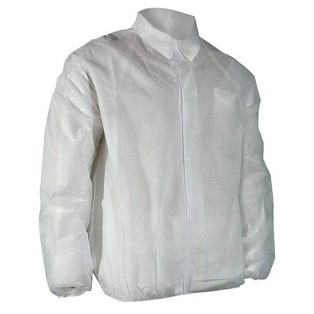Disposable Lab Jacket, White, L, PK50
