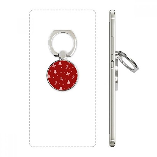 Christmas Snowflake Elk Crutch Bell Cell Phone Ring Stand Holder Bracket Universal Smartphones Support Gift