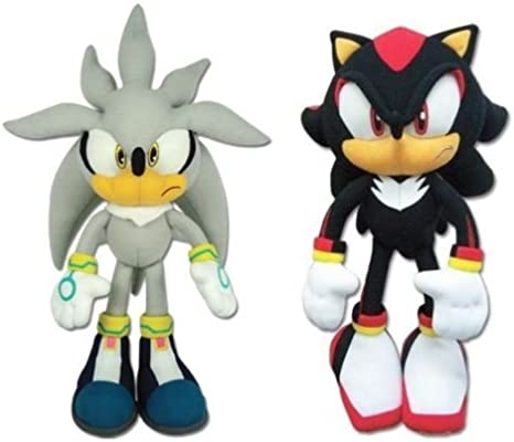 Set Of 2 Great Eastern Sonic The Hedgehog Plush Silver And Shadow Amazon Ca Toys Games