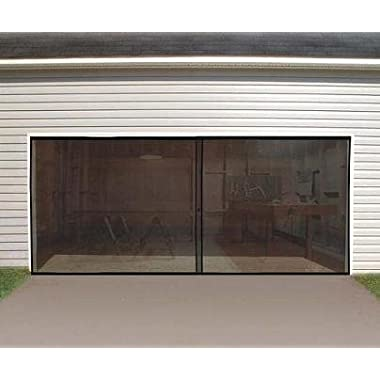 Anaconda Double Garage Door Screen, Black, 16' W x 7' H
