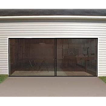 garage screen doorsIdeaWorks Instant Garage Screen DoorDouble  Garage Door Bug
