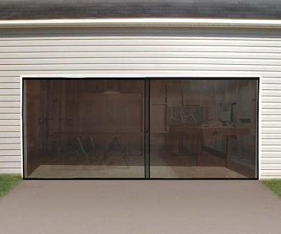(Anaconda Double Garage Door Screen, Black, 16' W x 7' H)