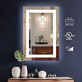 Amazon Com Led Front Lighted Bathroom Vanity Mirror 28