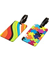 Travelon Puzzles and Swirls Set Of 2 Luggage Tags