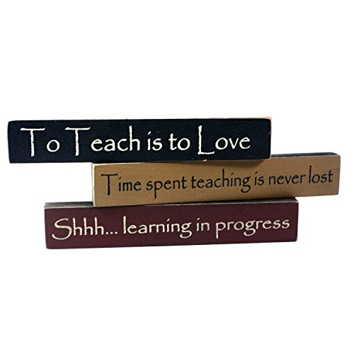 Teacher Appreciation Mini Desk Signs - Set of 3