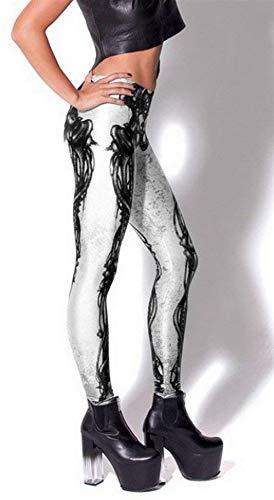 Moda Pantalones Jeggings Stretch color Blanco Leggings Mujeres Bleached Xl Verano De Las Treggings Playa Elásticos Medias Size qrFfq5z