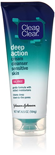 Clean & Clear Oil-Free Deep Action Cream Cleaner for Sensiti