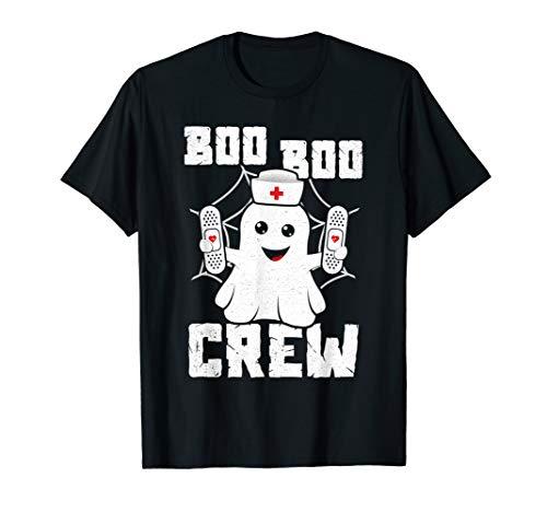 Boo Boo Crew Shirt Ghost Nurse Costume Girls Funny Halloween