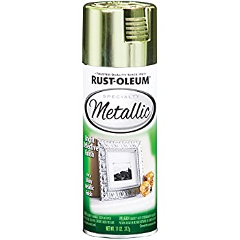 Rust Oleum 1936830 Specialty Topcoat Metallic Spray Paint 11 Oz Aerosol Can 10 12 Sq Ft Each Brass