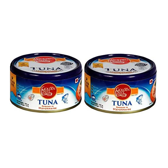 Golden Prize Tuna Spread in Mayonnaise 185Gms Each - Pack of 2 Units