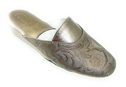 Camera Da Made pantofola Pantofola Shoes Pelle Axa Italy pantofola Elegante ricamo In Elegante qBECtnZxnw
