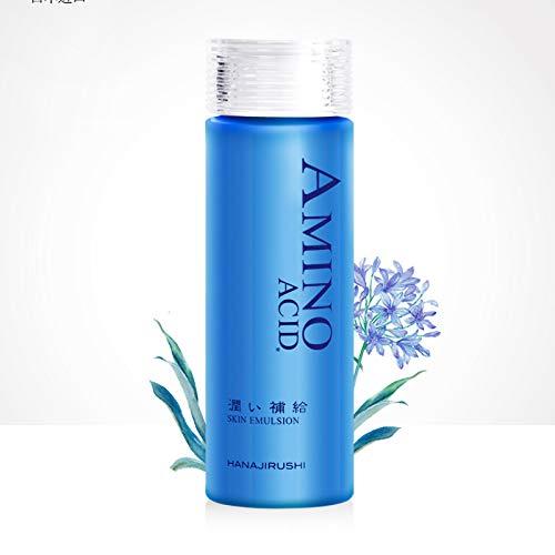 HANAJIRUSHI Amino Acid Super Moisture Skin Emulsion Anti-Wrinkle Whitening Moisturizing Emulsion, 150ml