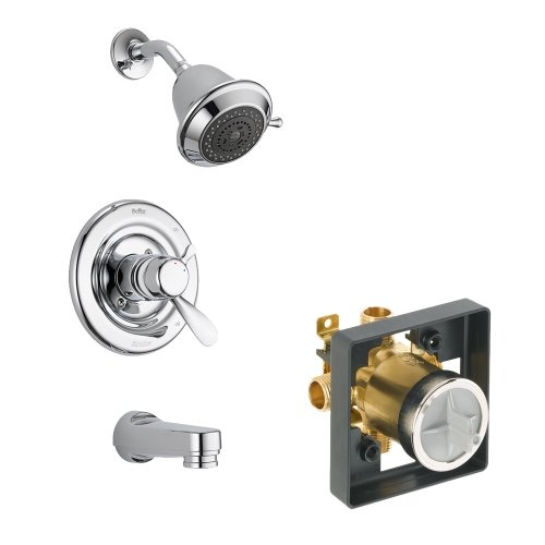 Shower Balance Pressure Classic (Delta Delta KTSDCL-T17430SOS-CH Classic Tub/Shower Kit Pressure-Balance Dual-Function Cartridge, Chrome Chrome)