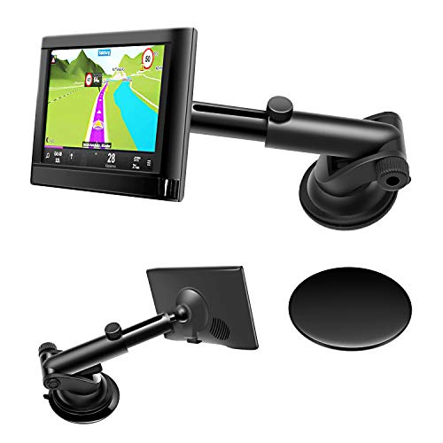 GPS Dash Mount,Car Dashboard Windshield Sticky Suction Mount for 17mm Garmin Nuvi Dezl DriveSmart StreetPilot Zumo with a Dashboard Pad Mounting Disk